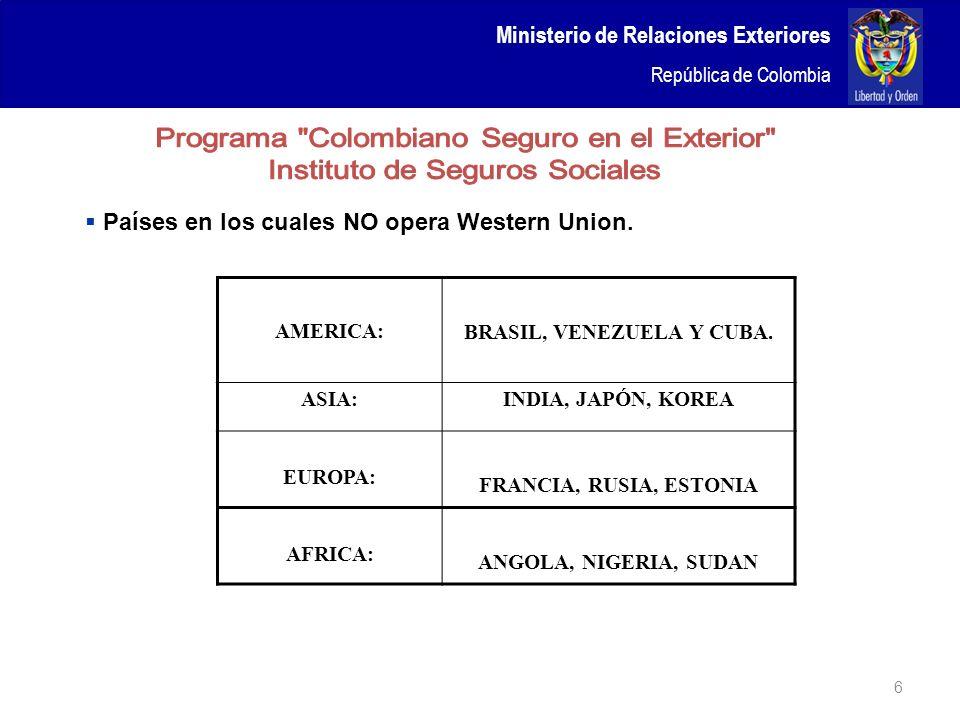 BRASIL, VENEZUELA Y CUBA.