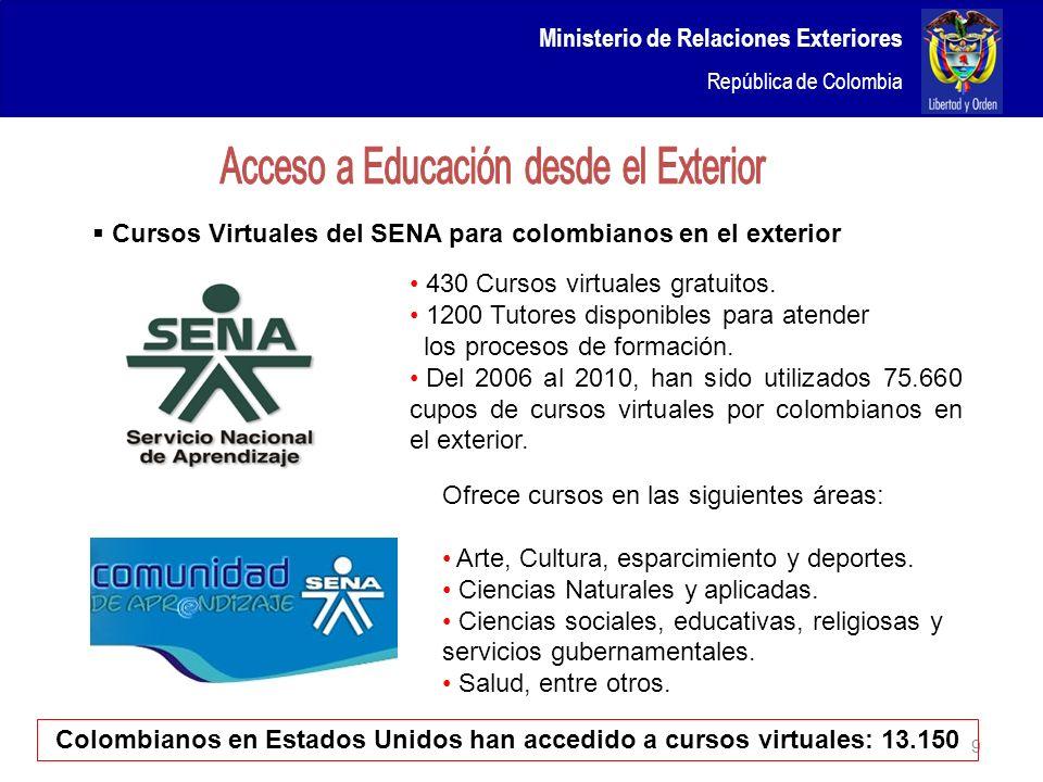 Colombianos en Estados Unidos han accedido a cursos virtuales: 13.150