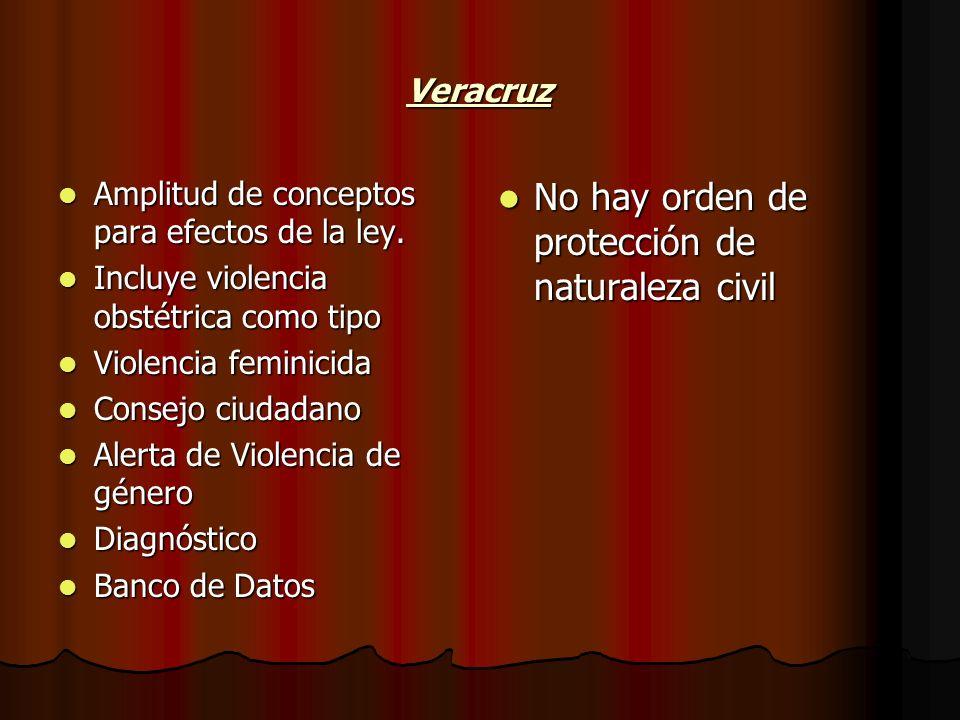No hay orden de protección de naturaleza civil