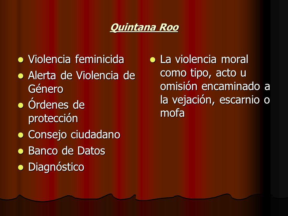 Alerta de Violencia de Género Órdenes de protección Consejo ciudadano