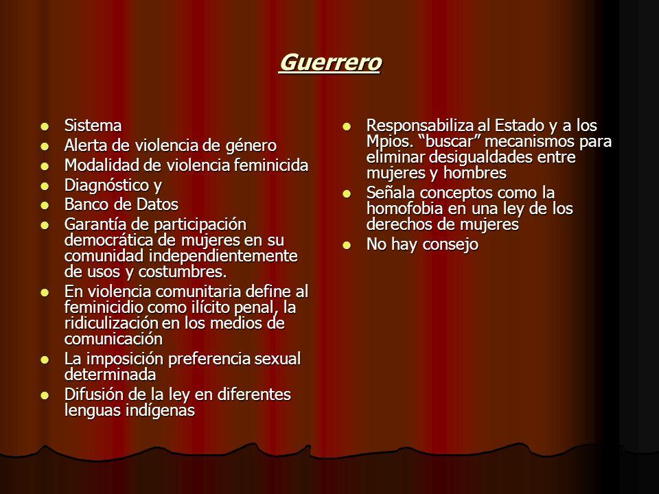 Guerrero Sistema Alerta de violencia de género