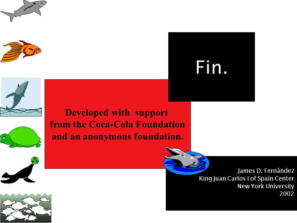 Fin. Developed with support from the Coca-Cola Foundation
