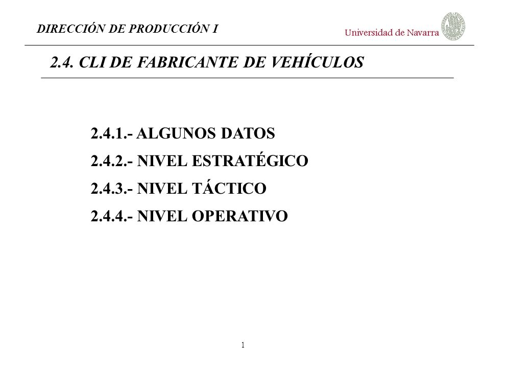 2.4. CLI DE FABRICANTE DE VEHÍCULOS