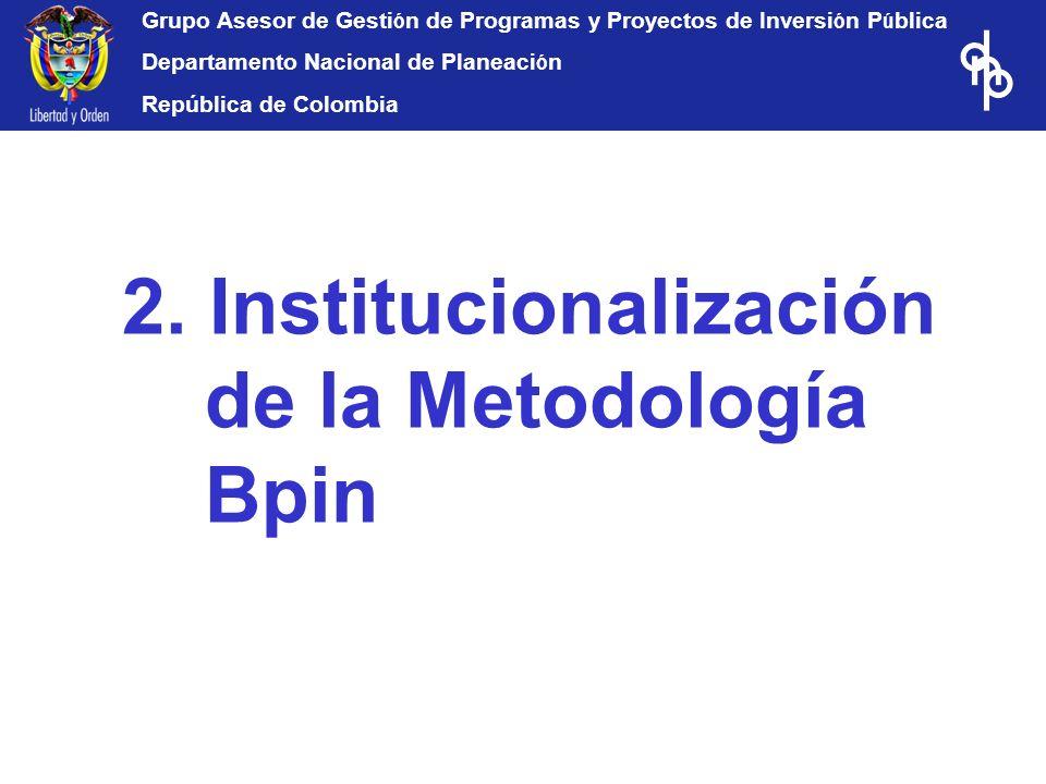 2. Institucionalización de la Metodología Bpin