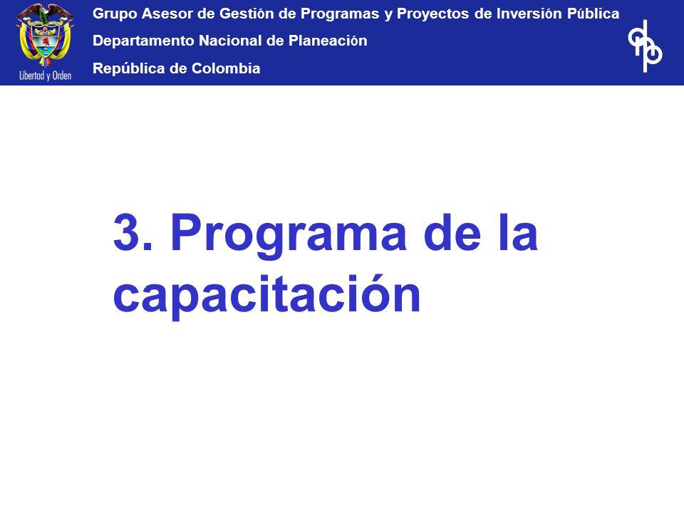 3. Programa de la capacitación