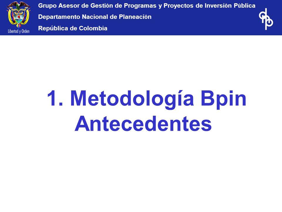 1. Metodología Bpin Antecedentes
