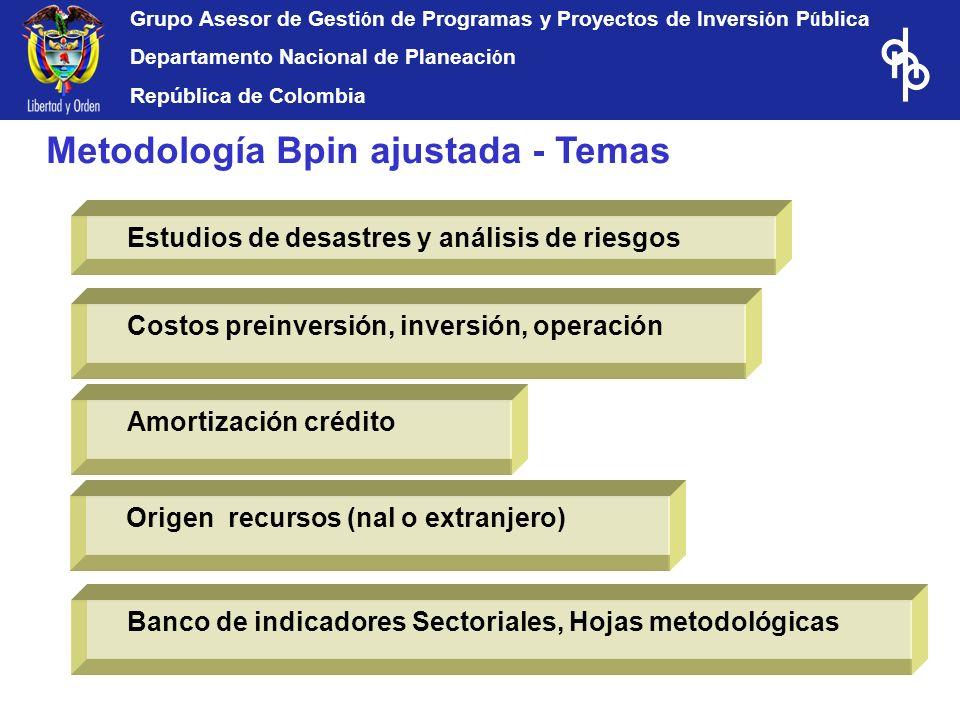 Metodología Bpin ajustada - Temas