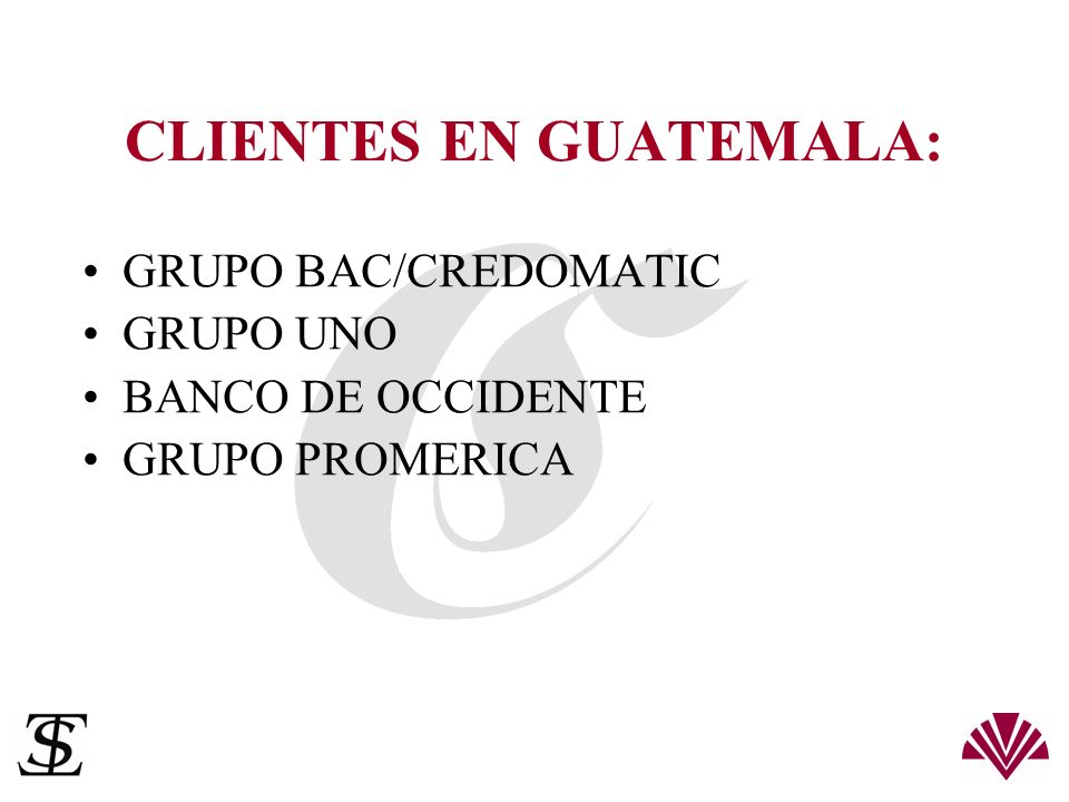 CLIENTES EN GUATEMALA: