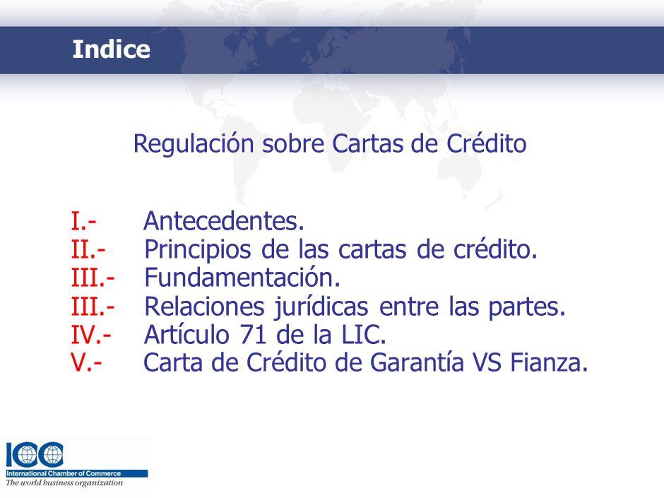 I.- Antecedentes. Ley General de Títulos y Operaciones