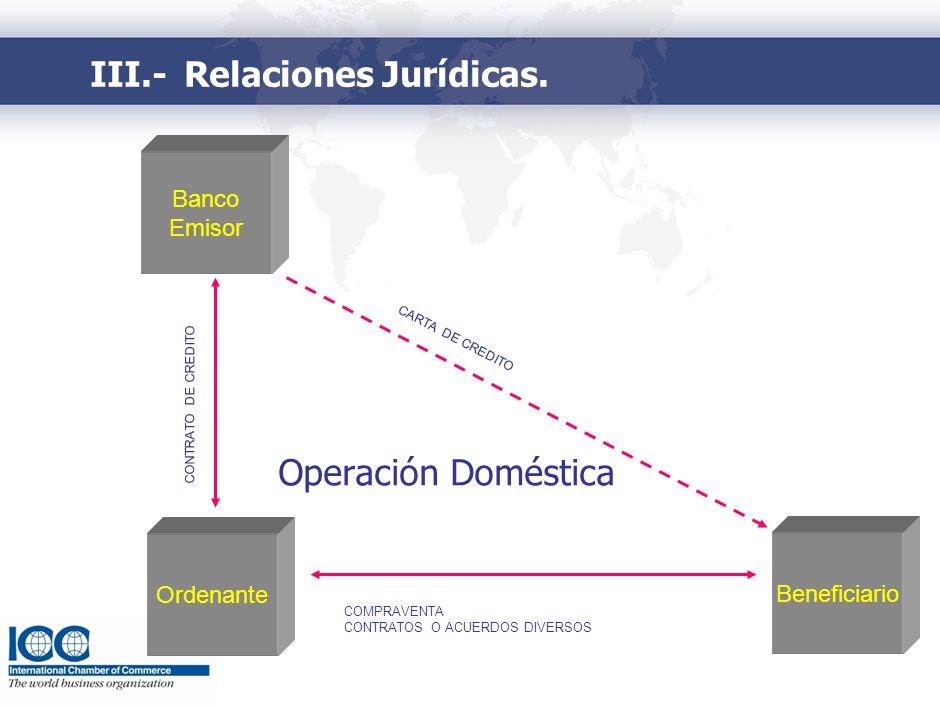V.- Relaciones Jurídicas
