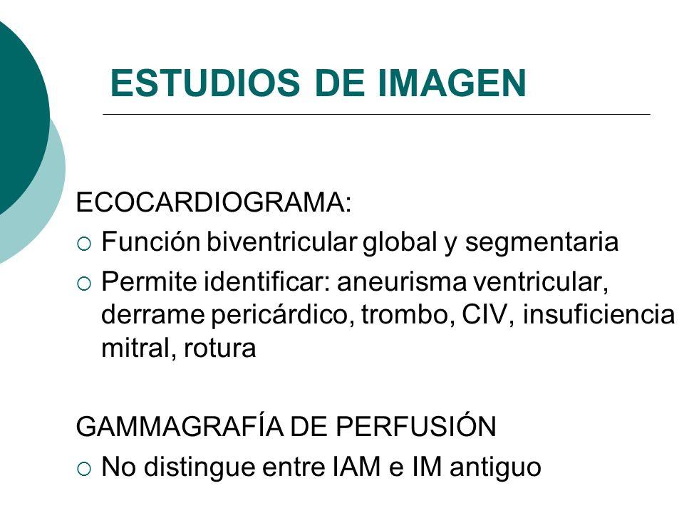 ESTUDIOS DE IMAGEN ECOCARDIOGRAMA: