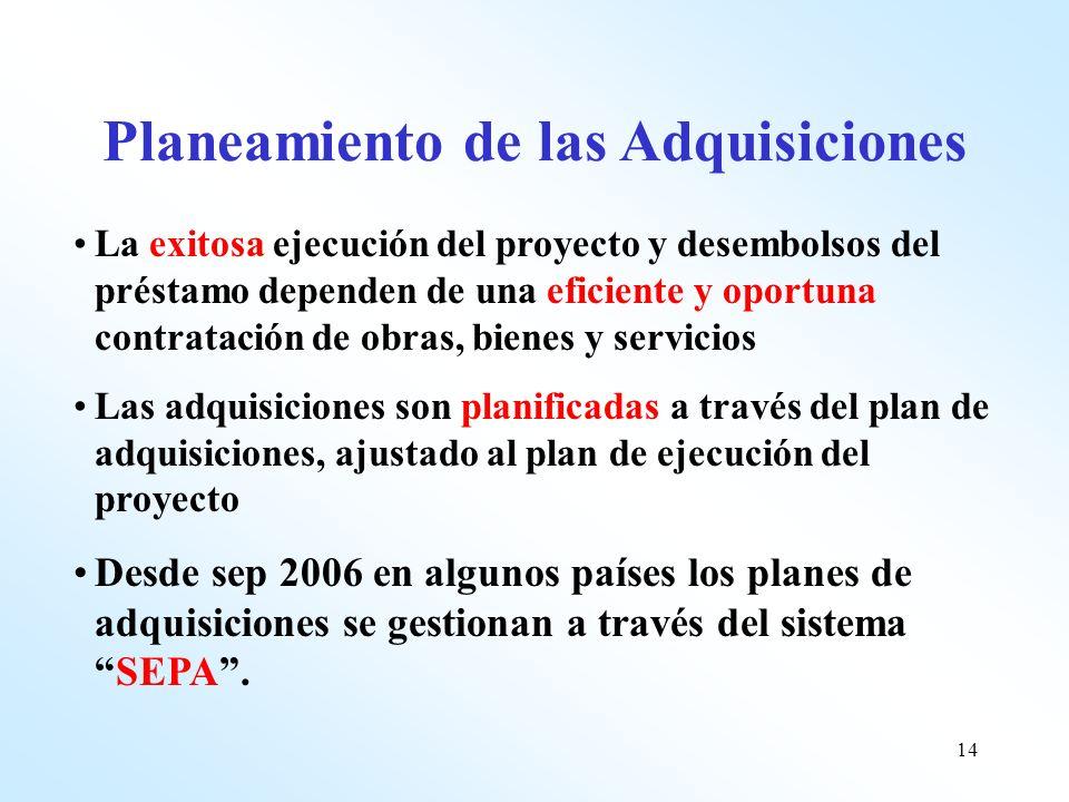 Planeamiento de las Adquisiciones