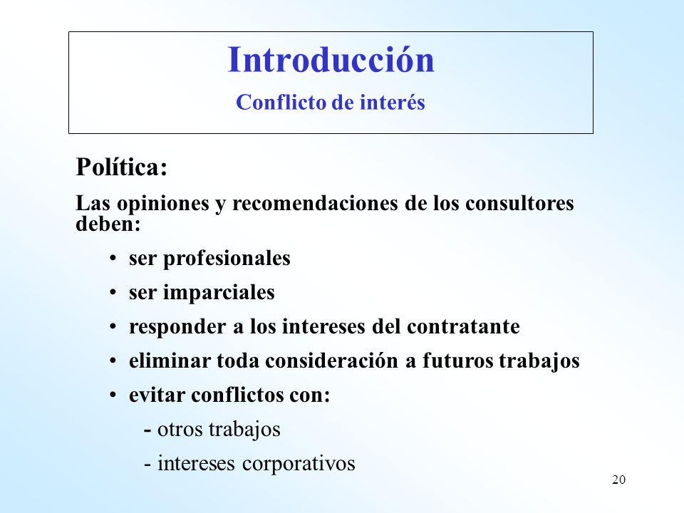 Introducción Política: Conflicto de interés