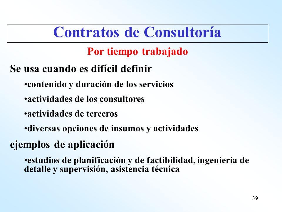 Contratos de Consultoría