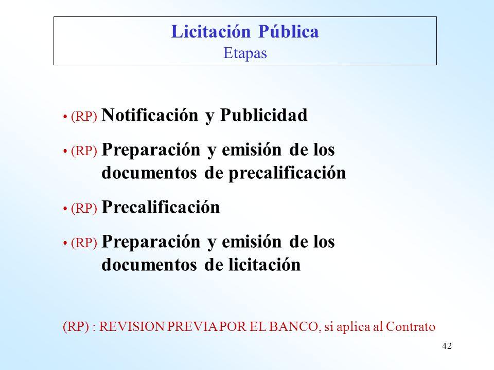 documentos de precalificación