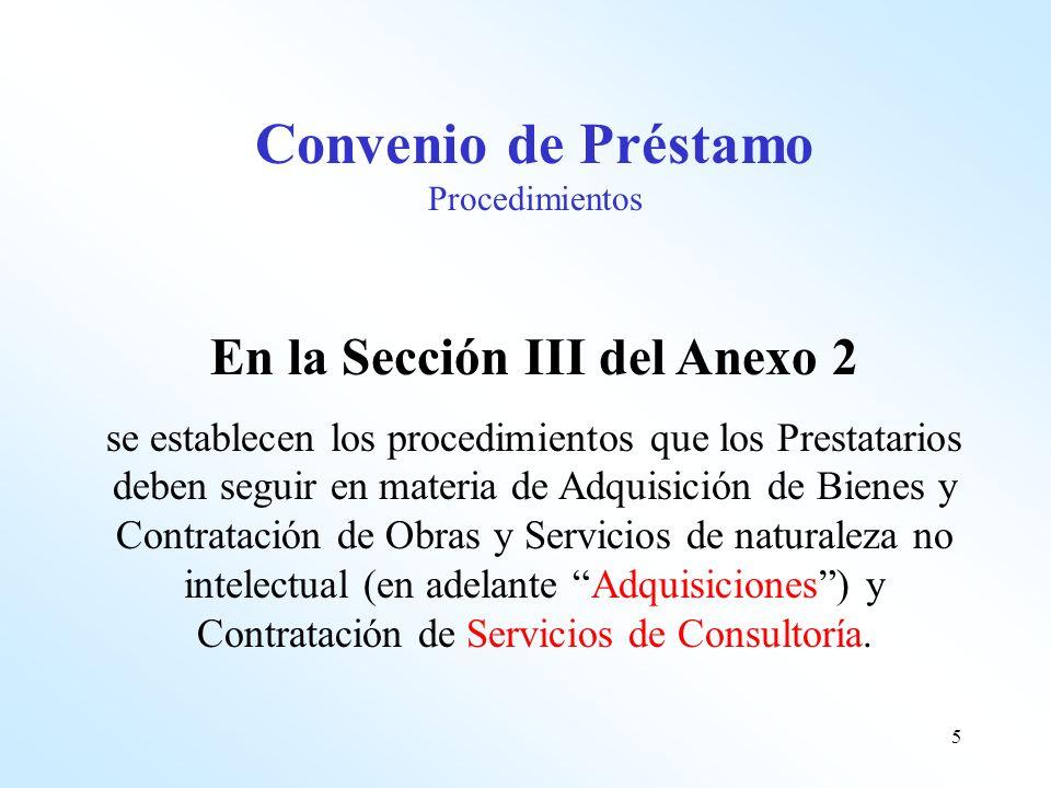En la Sección III del Anexo 2