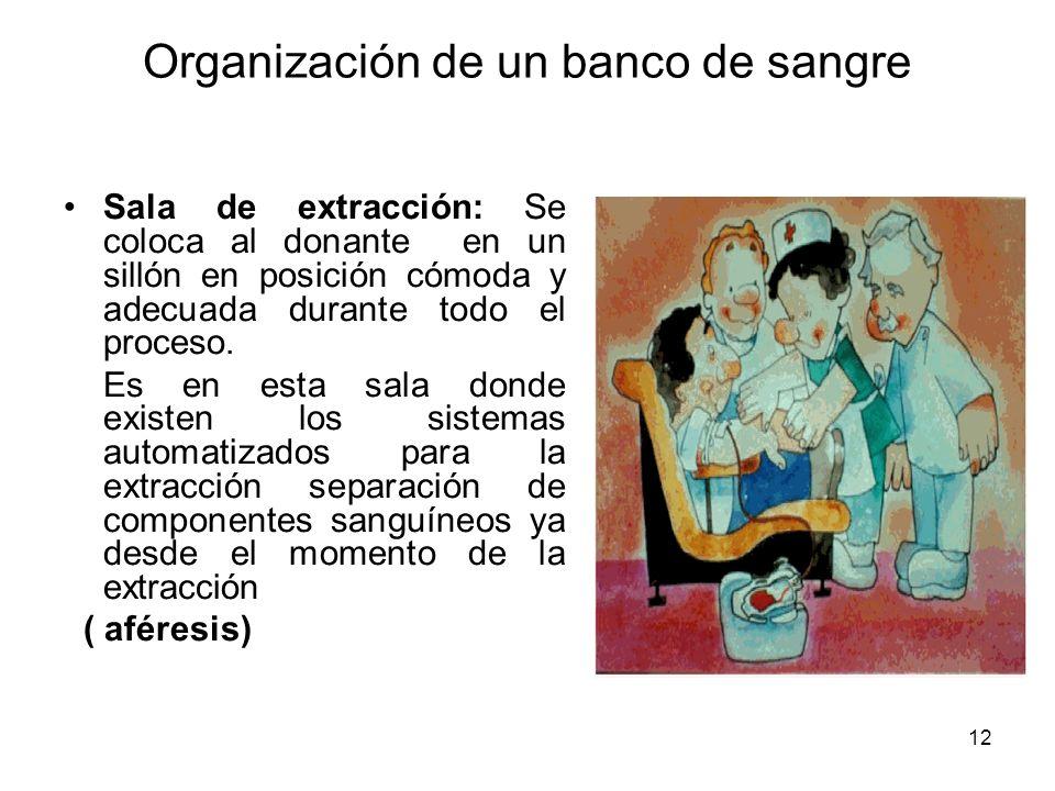 Organización de un banco de sangre