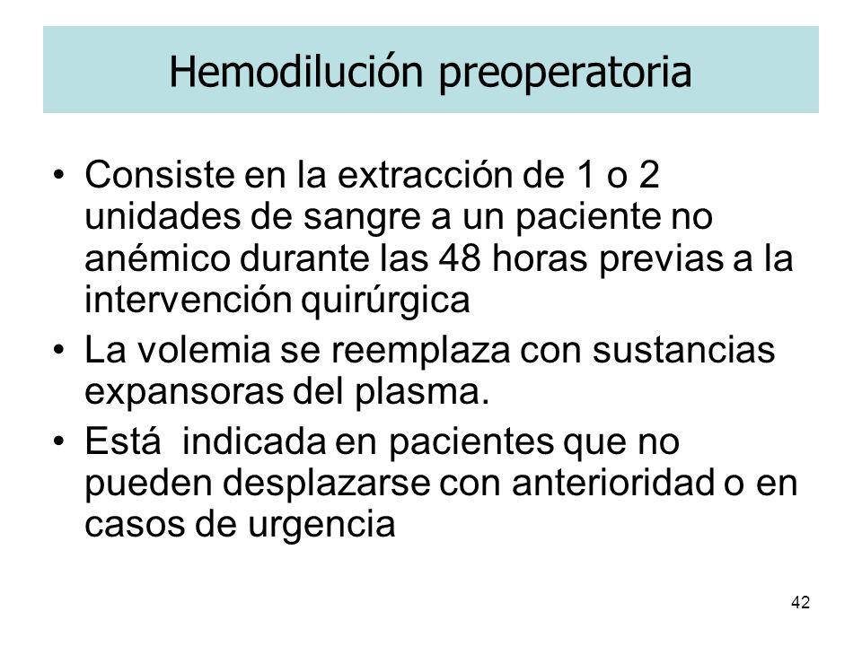 Hemodilución preoperatoria