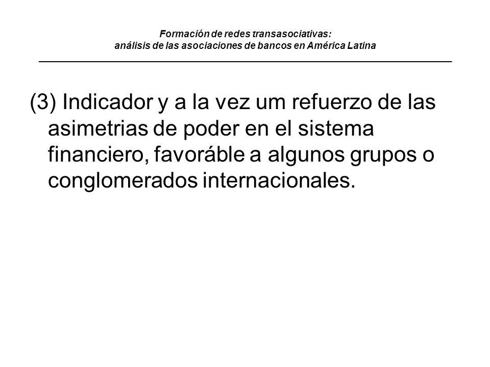Formación de redes transasociativas: análisis de las asociaciones de bancos en América Latina ______________________________________________________________________________