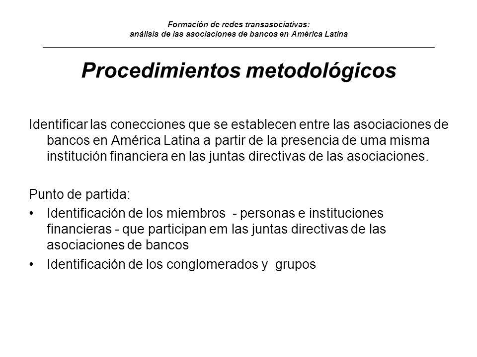 Procedimientos metodológicos