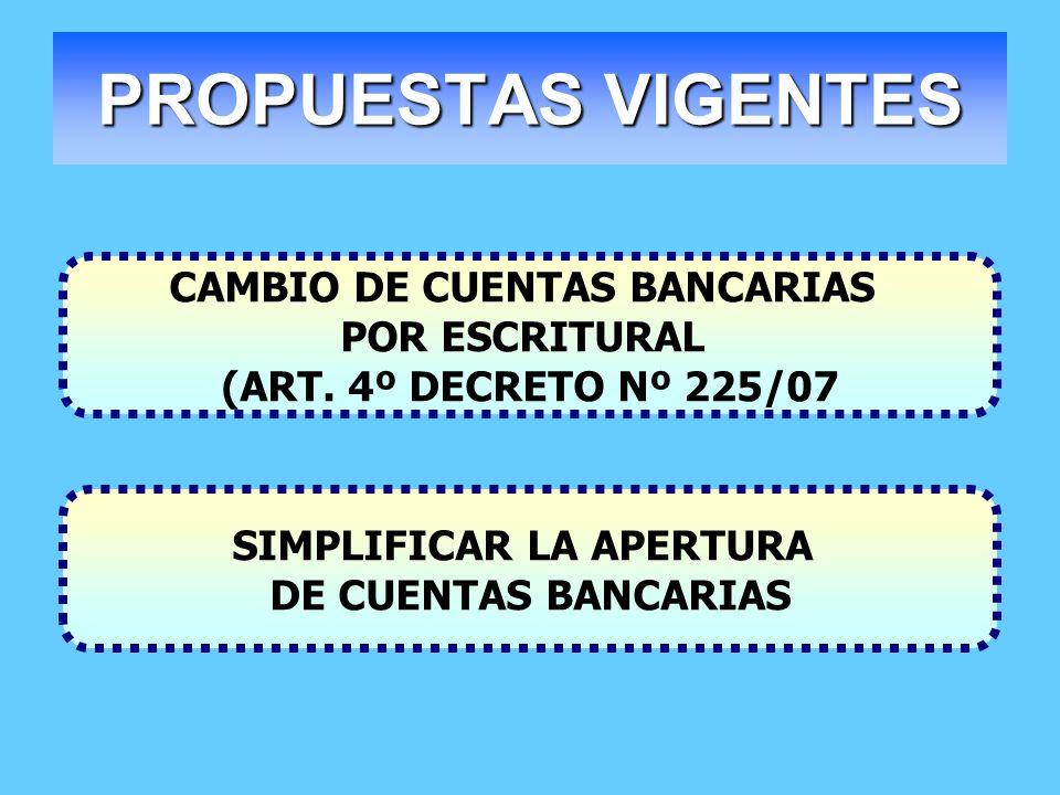 CAMBIO DE CUENTAS BANCARIAS SIMPLIFICAR LA APERTURA