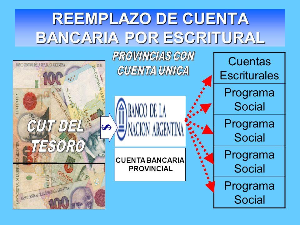 REEMPLAZO DE CUENTA BANCARIA POR ESCRITURAL