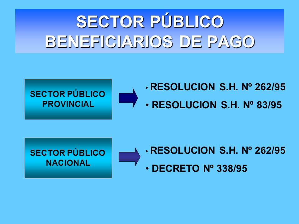 SECTOR PÚBLICO BENEFICIARIOS DE PAGO