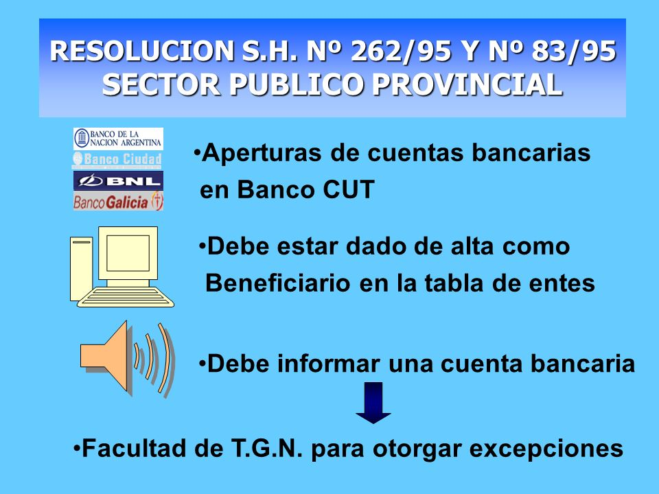 RESOLUCION S.H. Nº 262/95 Y Nº 83/95 SECTOR PUBLICO PROVINCIAL