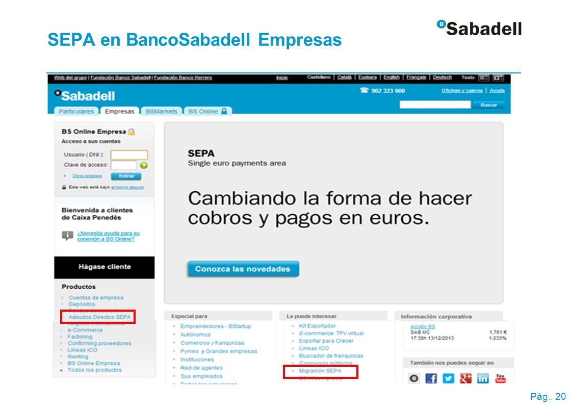 SEPA en BancoSabadell Empresas