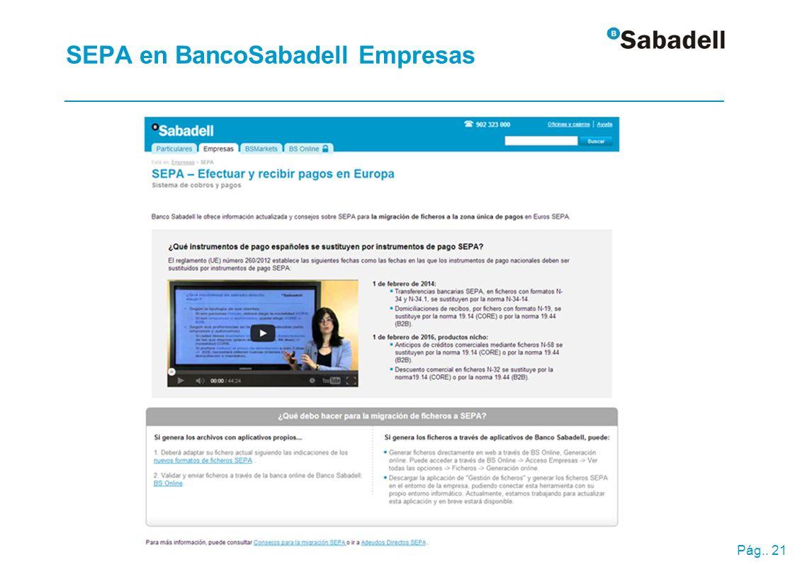 SEPA en BancoSabadell Empresas Banca a distancia >Ficheros y aplicaciones