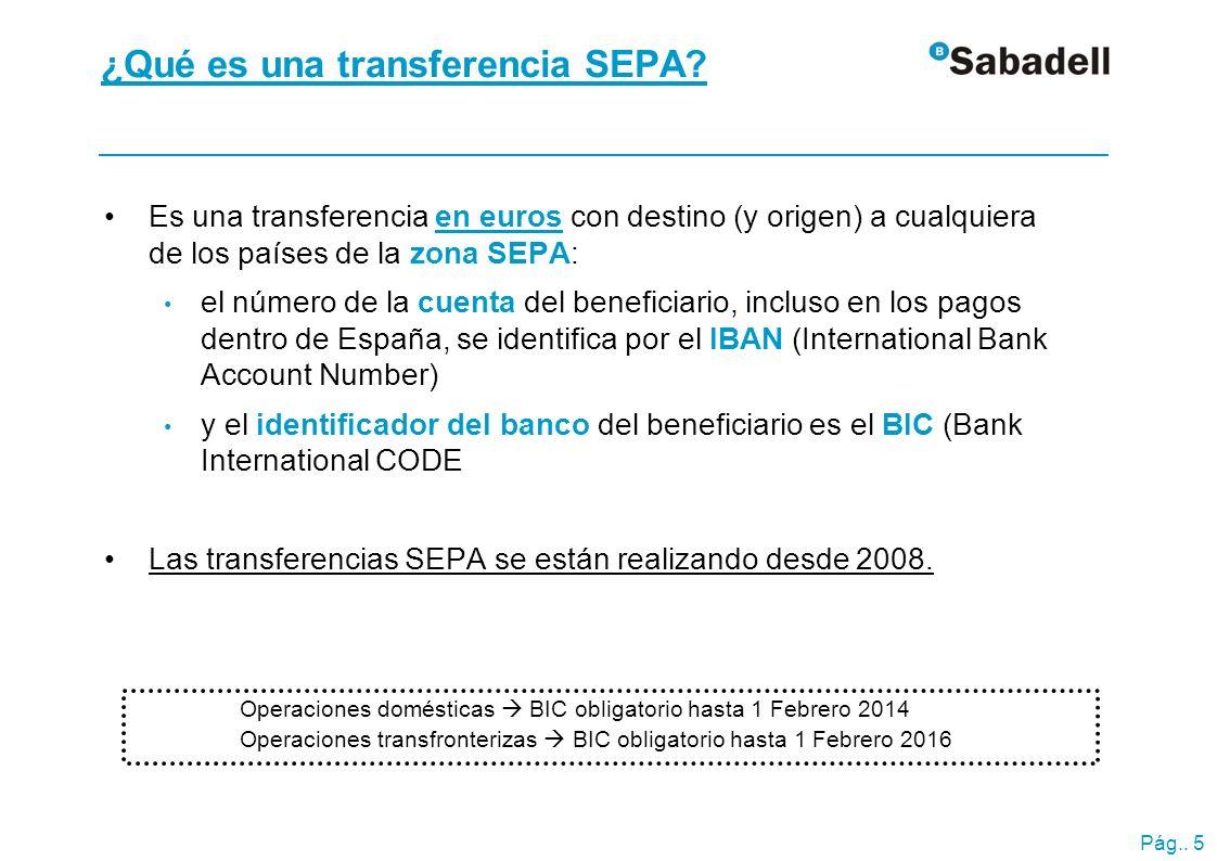 ¿Qué cambia en una transferencia SEPA