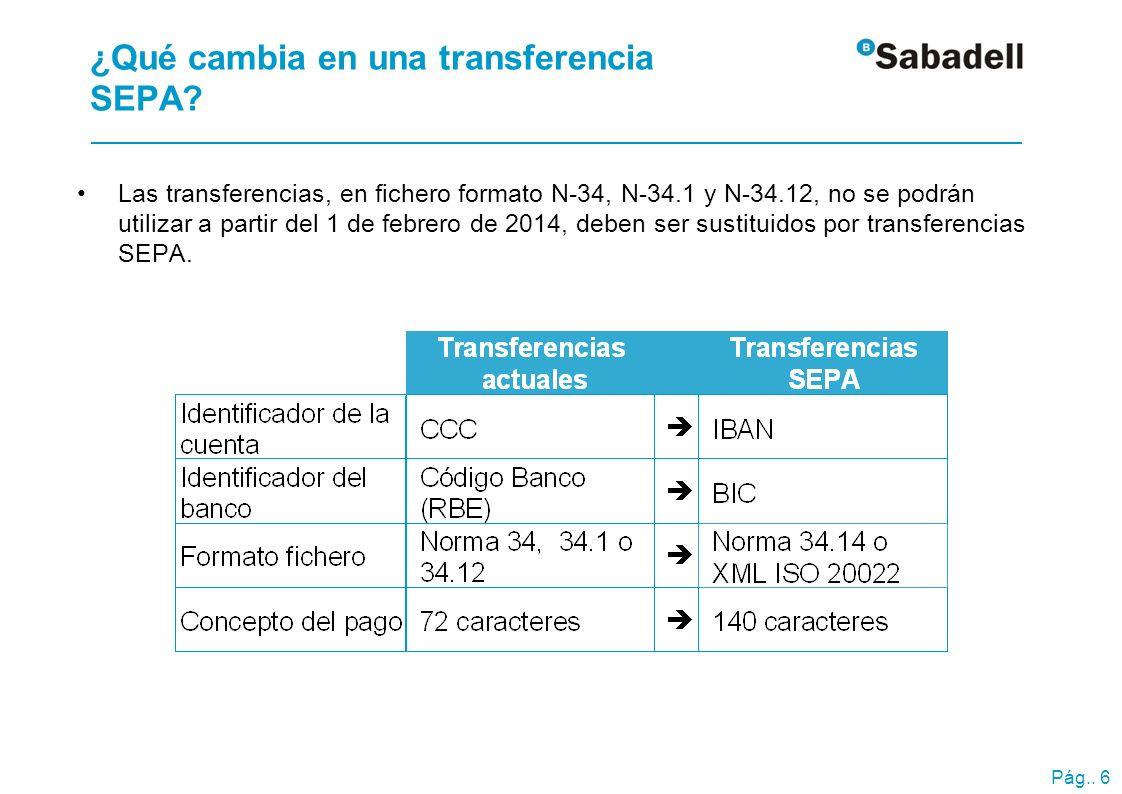 Migración a transferencias SEPA