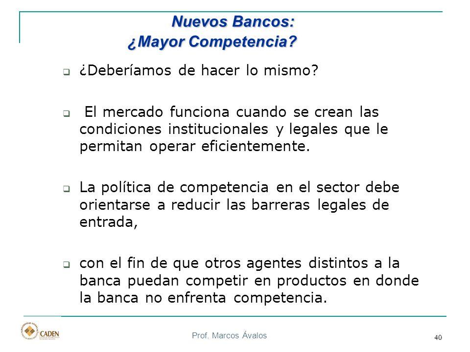 Nuevos Bancos: ¿Mayor Competencia