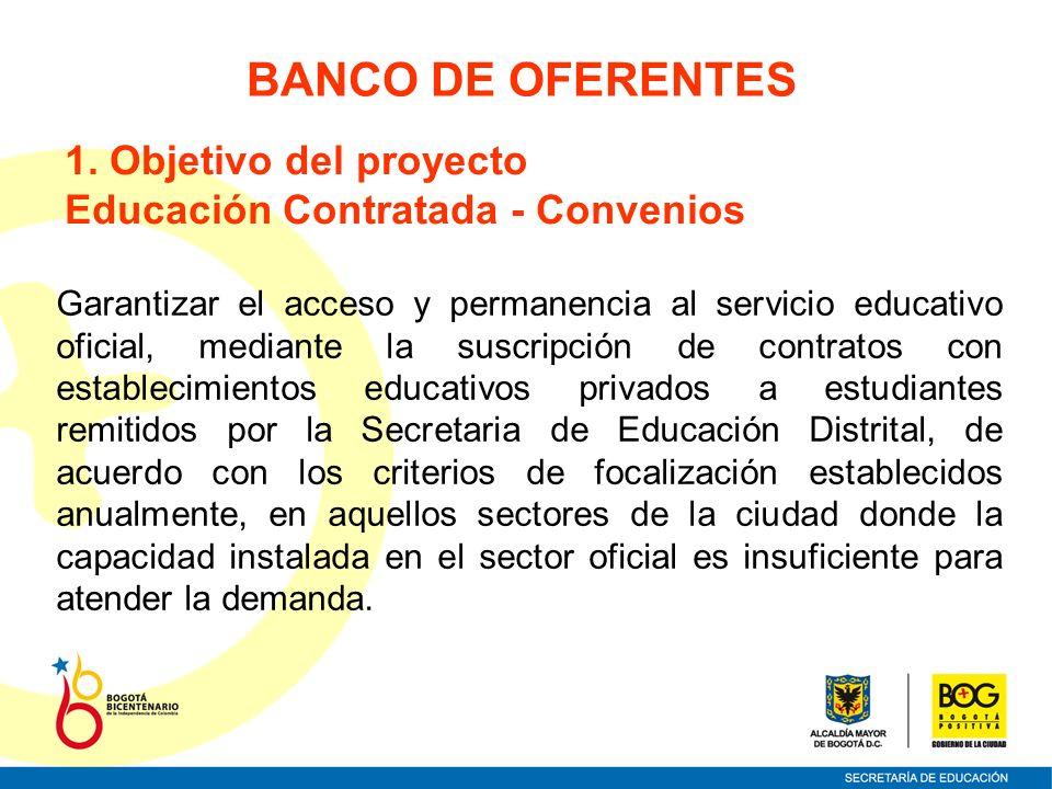 BANCO DE OFERENTES 1. Objetivo del proyecto