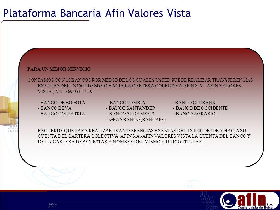 Plataforma Bancaria Afin Valores Vista