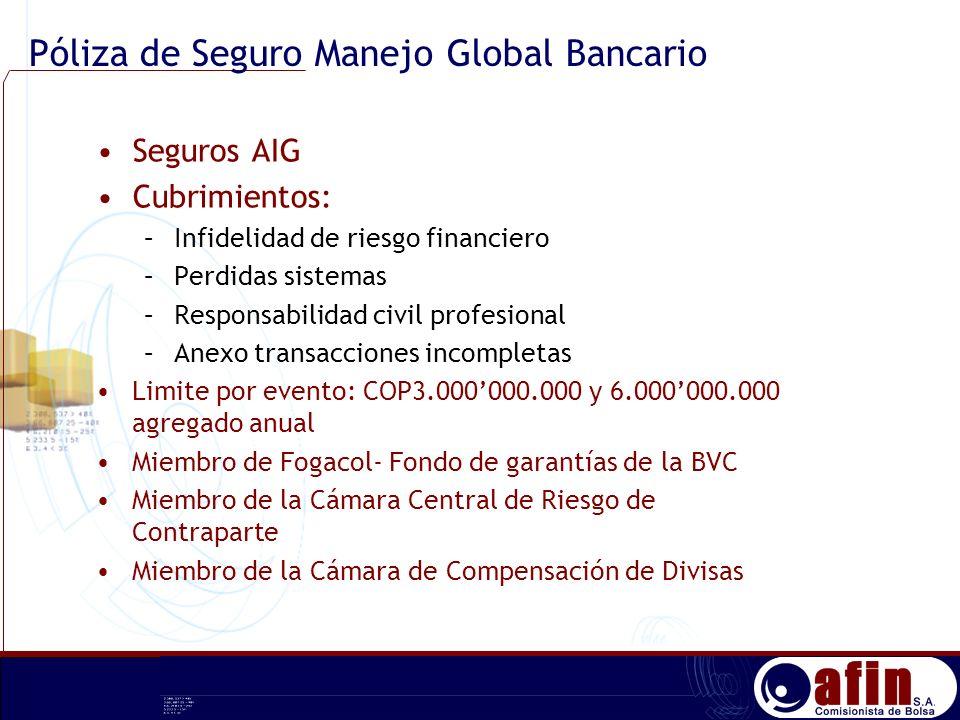 Póliza de Seguro Manejo Global Bancario