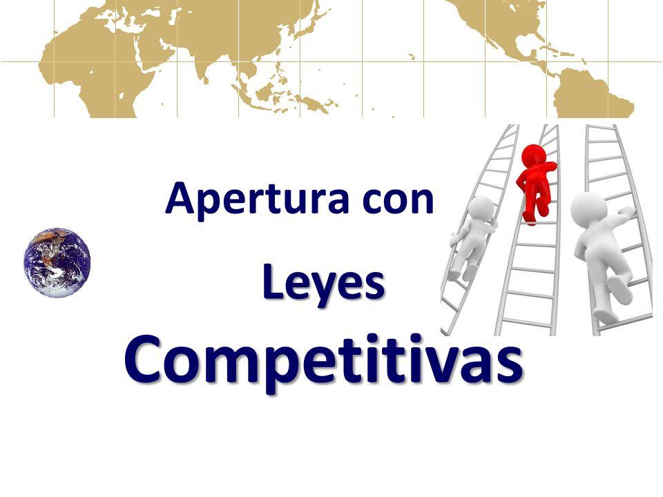 Apertura con Leyes Competitivas