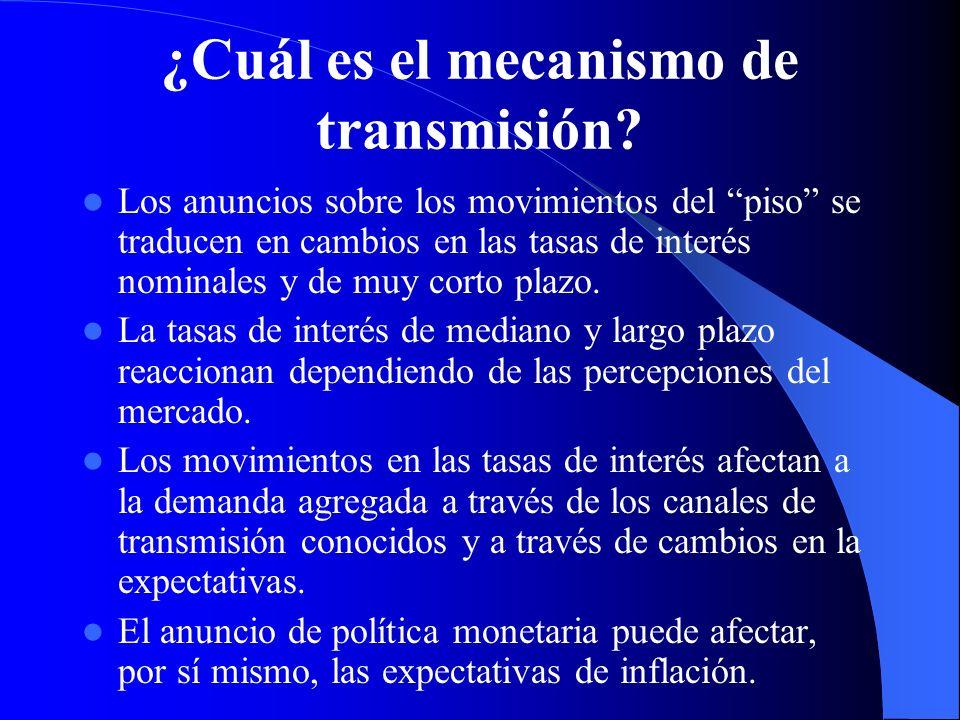 ¿Cuál es el mecanismo de transmisión