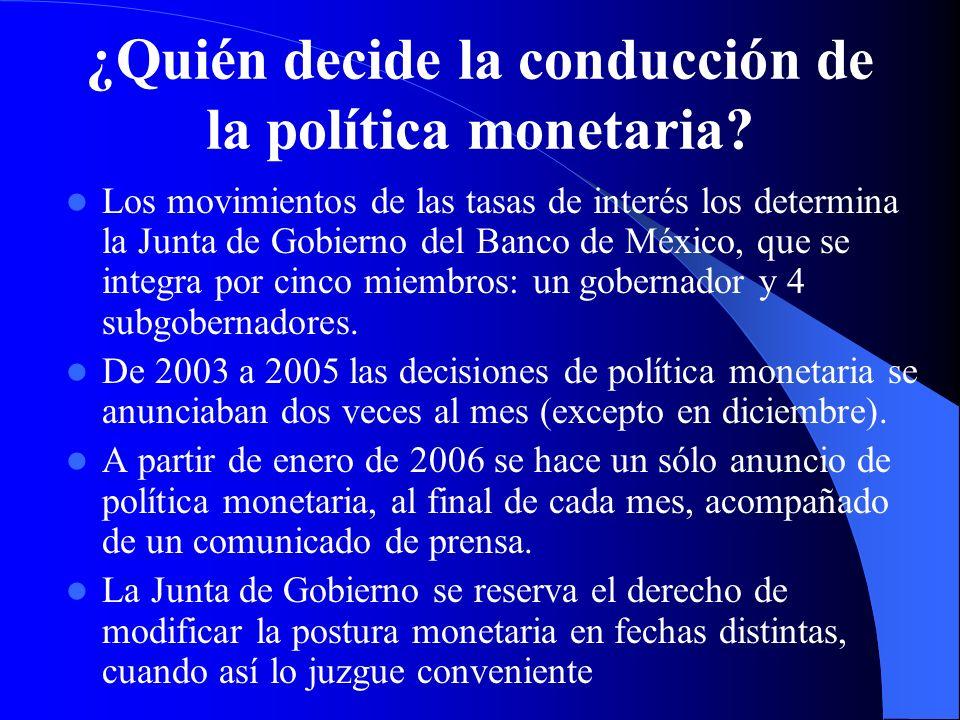 ¿Quién decide la conducción de la política monetaria