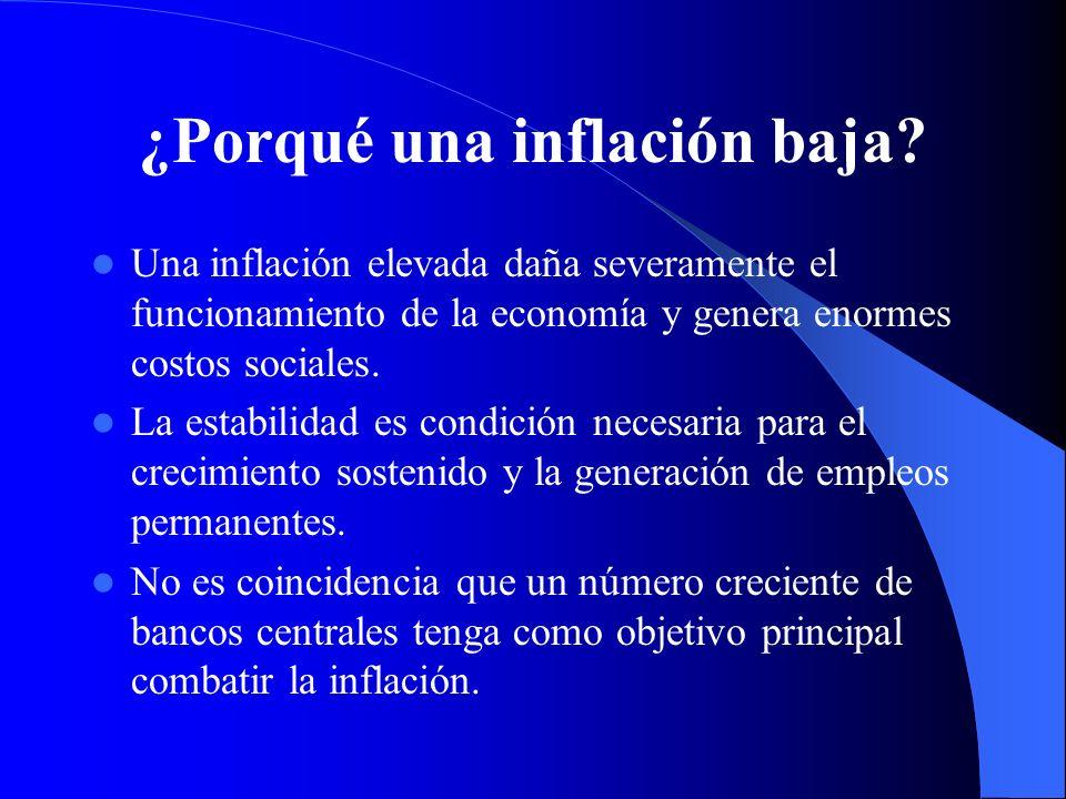 ¿Porqué una inflación baja