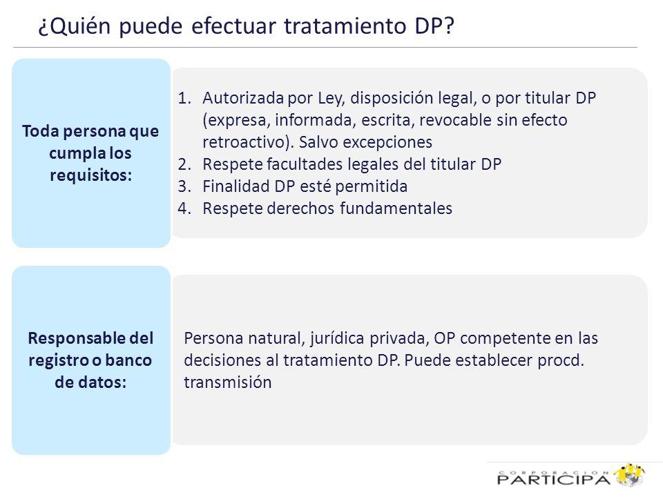 ¿Quién puede efectuar tratamiento DP