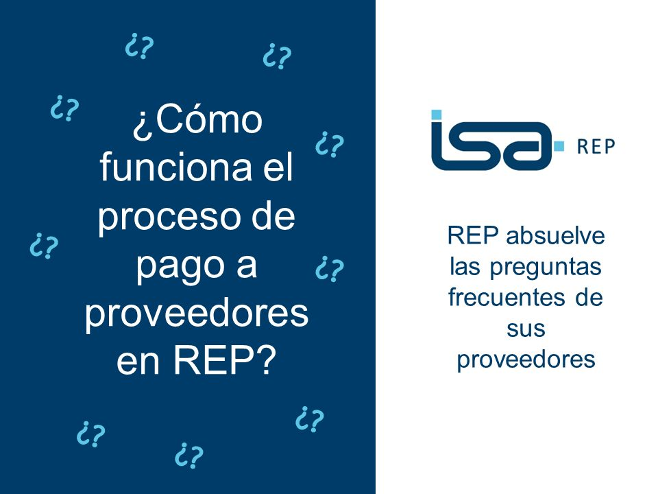 proceso de pago a proveedores en REP
