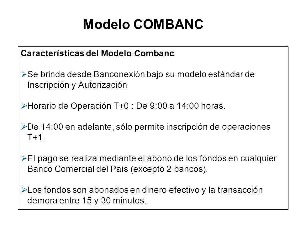 Modelo COMBANC Servicio de Alta Seguridad a través del dispositivo E-Token.
