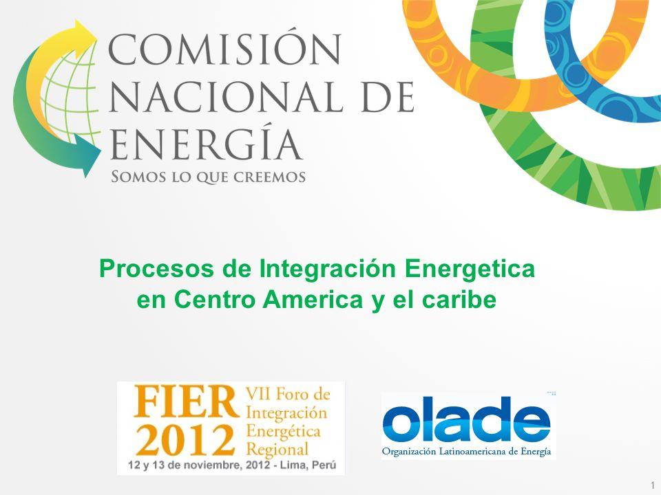 Procesos de Integración Energetica en Centro America y el caribe