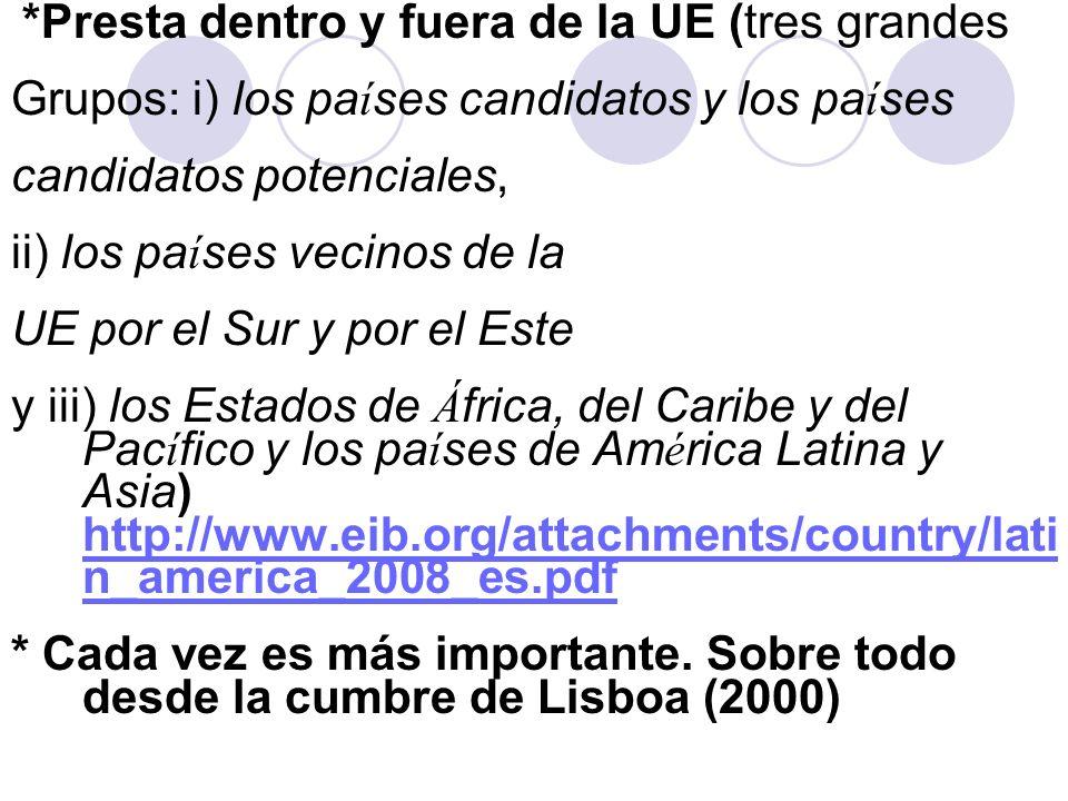 Grupos: i) los países candidatos y los países candidatos potenciales,