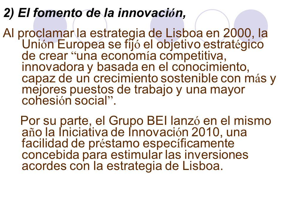 2) El fomento de la innovación,