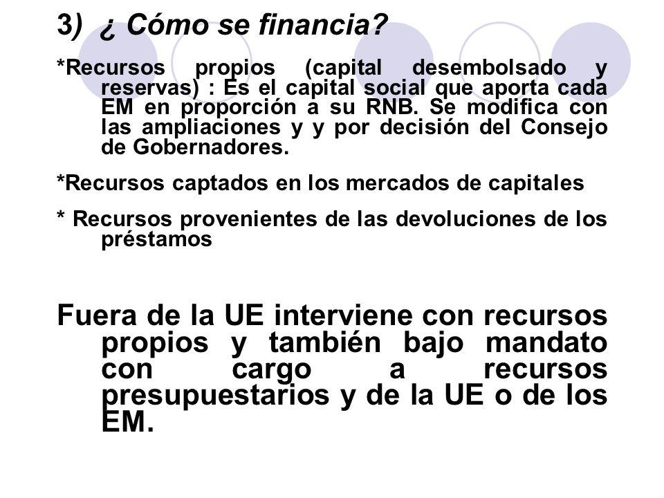 3) ¿ Cómo se financia