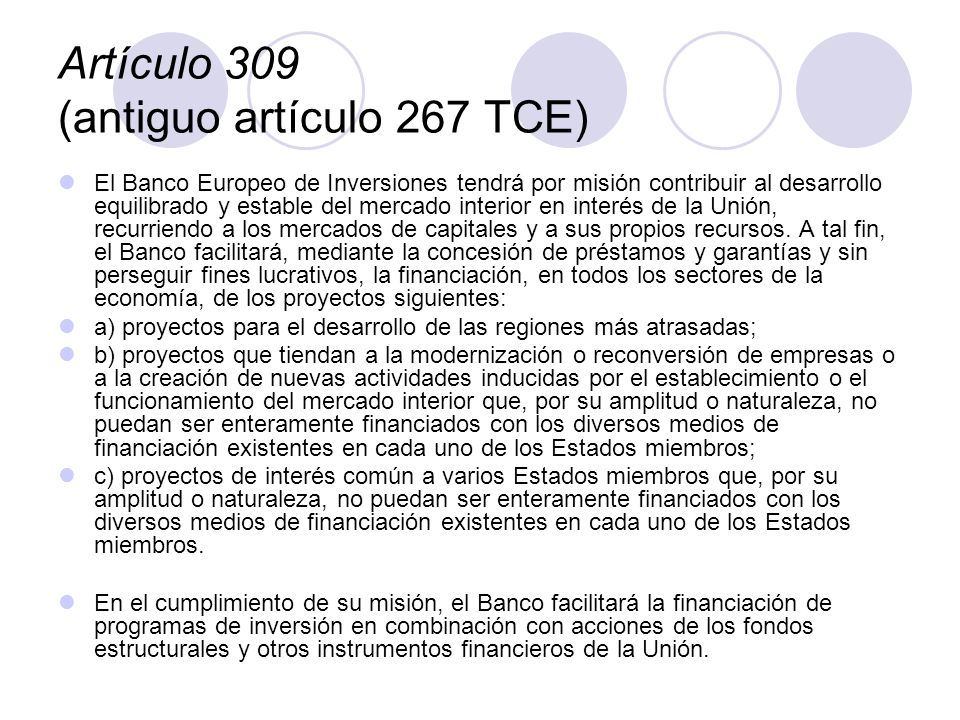 Artículo 309 (antiguo artículo 267 TCE)