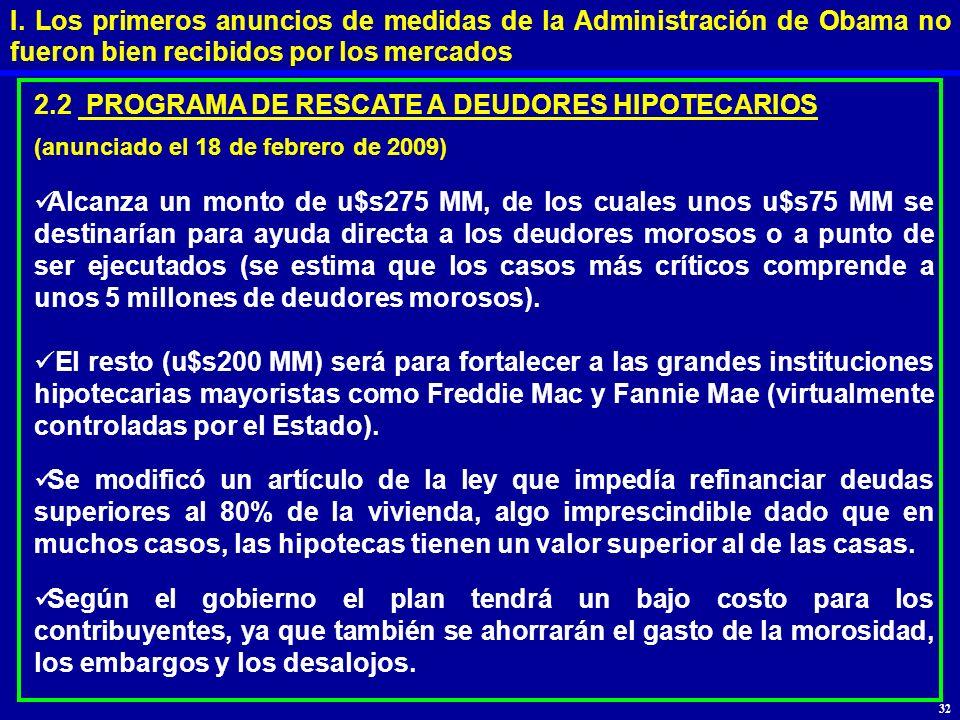 2.2 PROGRAMA DE RESCATE A DEUDORES HIPOTECARIOS