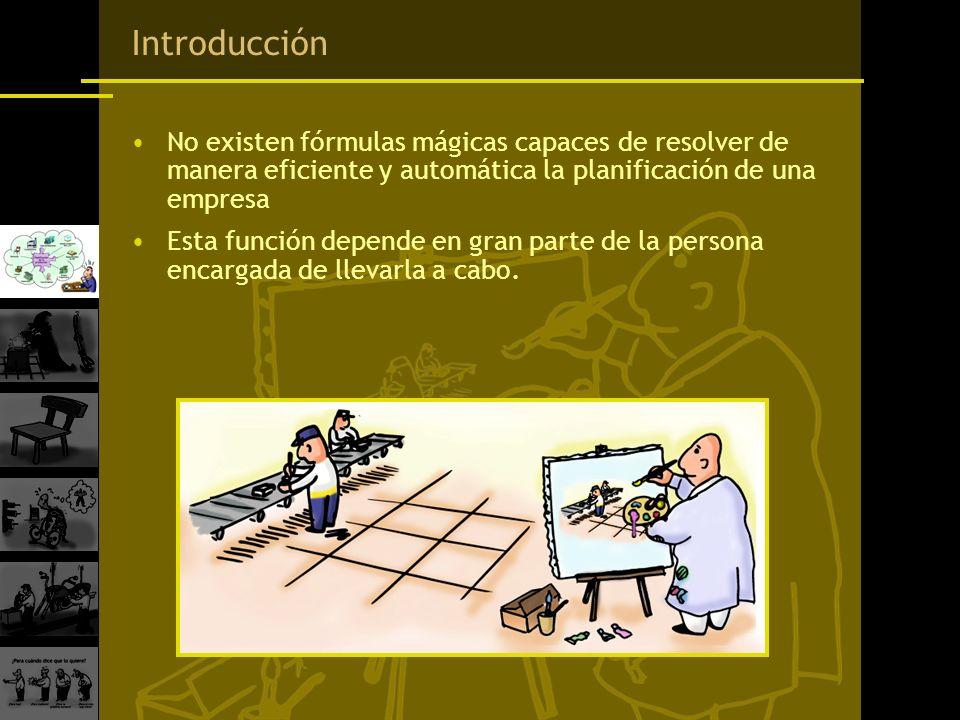 Introducción No existen fórmulas mágicas capaces de resolver de manera eficiente y automática la planificación de una empresa.